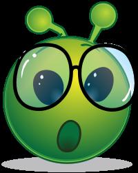Geschocktes Schlaubi Alien